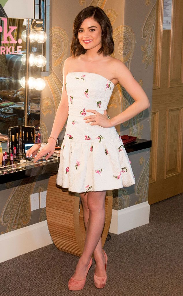 LUCY HALE The Pretty Little Liars star attends the Mark. Holiday Collection event at the Crosby Hotel in NYC. #celebrity #lucyhale #prettylittleliars