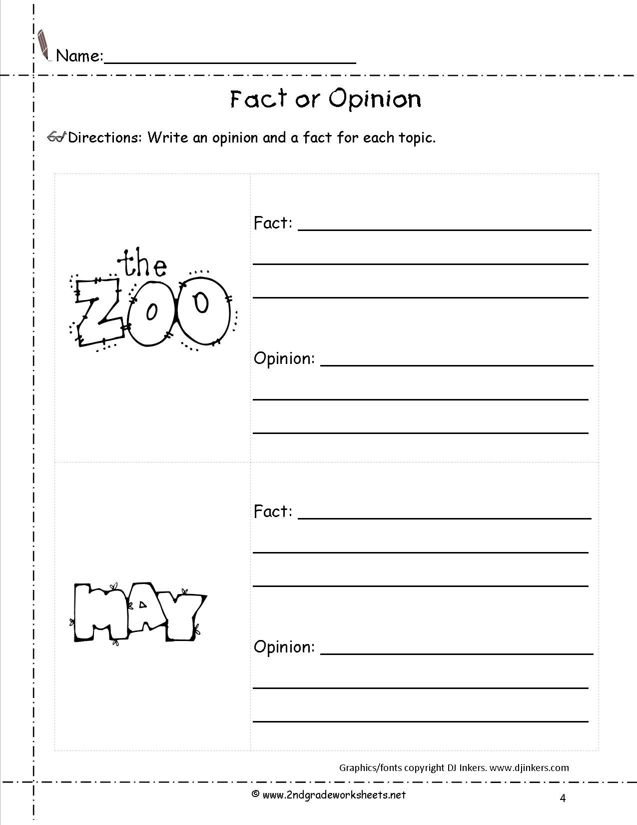 Worksheets Fact And Opinion Worksheet fact and opinion worksheet literacy pinterest writing lesson worksheet
