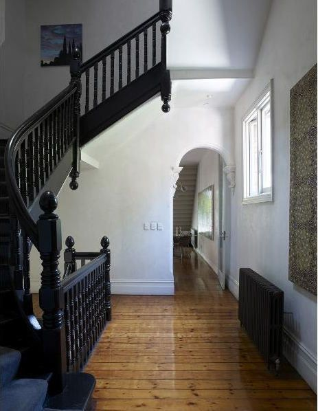 Summer 2013 project-ALL BLACK STAIRCASE and BLACK DOORS!