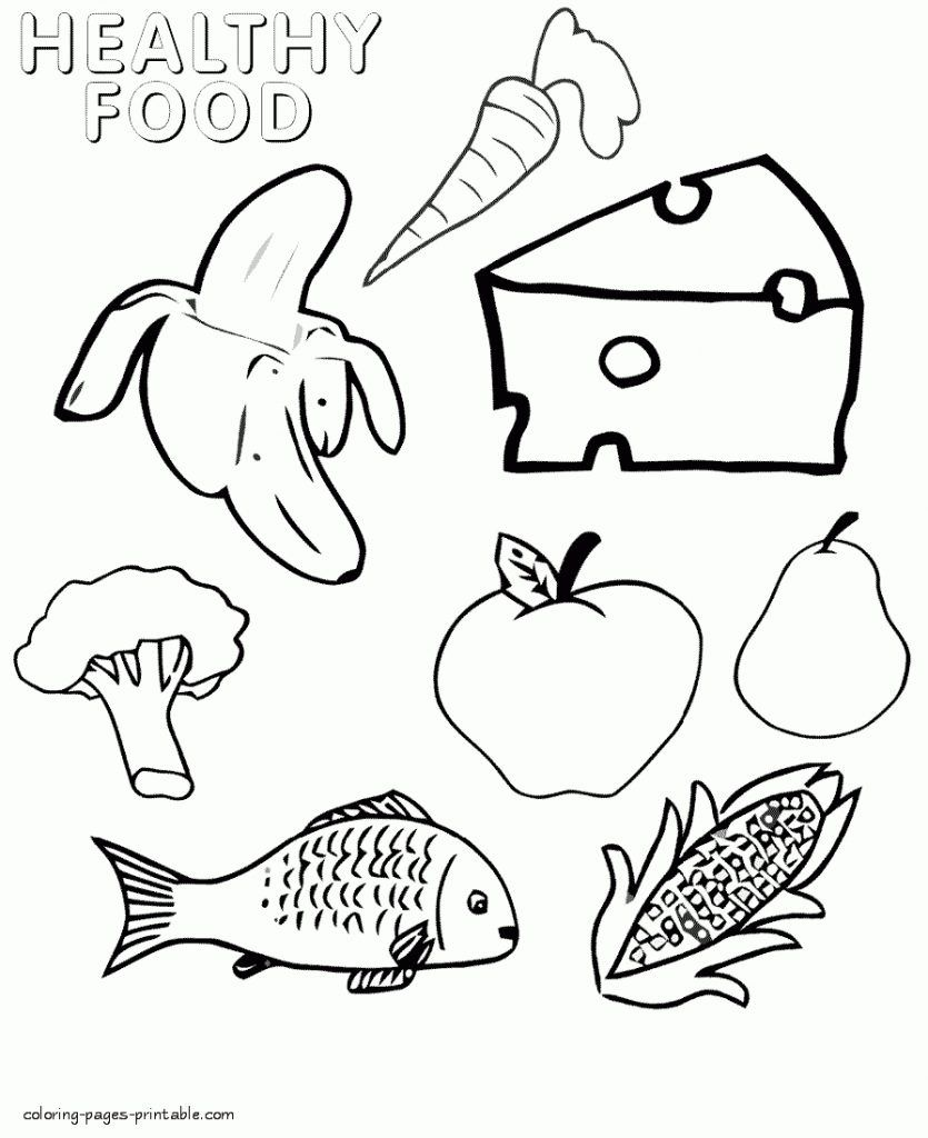 Food Coloring Pages Food coloring, Food coloring pages