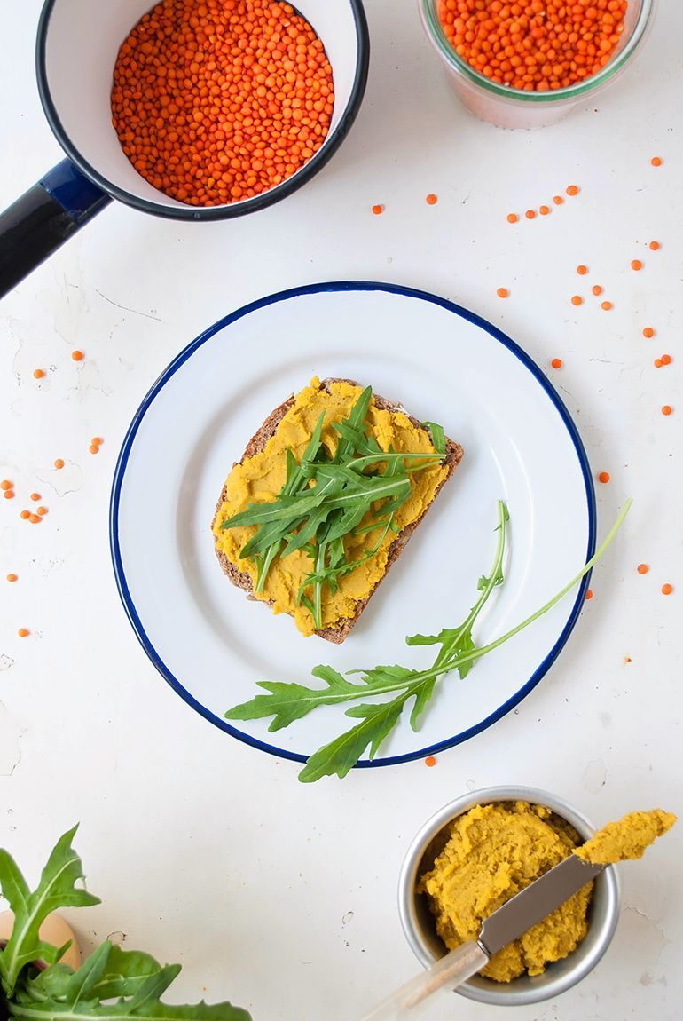 Linsen-Curry-Aufstrich