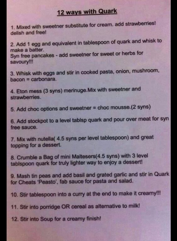 25 b sta slimming world quark recipes id erna p pinterest I love slimming world