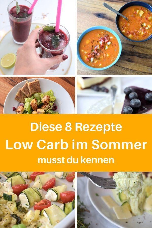 8 erfrischende Low Carb Rezepte für den Sommer