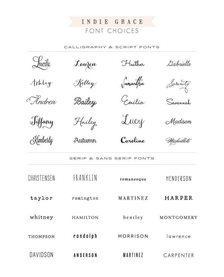 Tattoo Fonts, Lettering