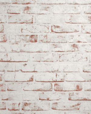 As Creation Distressed Brick Effect Red White