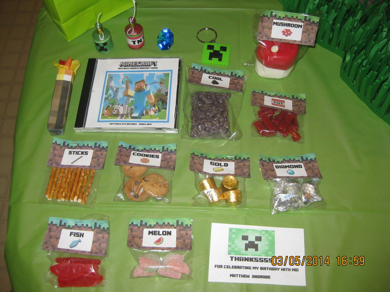 Mine craft birthday ideas - Find This Pin And More On Minecraft Birthday Party Ideas