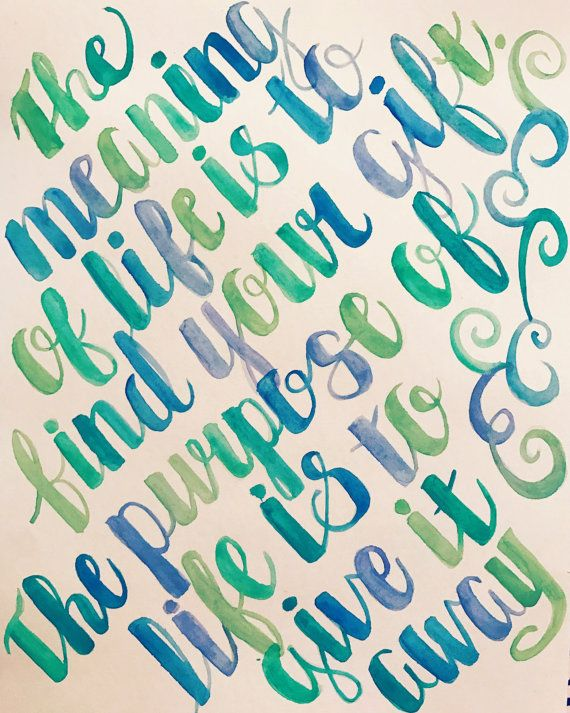 #purpose #quote #life #picasso #inspiration #passion #gift #customwatercolor #watercolor