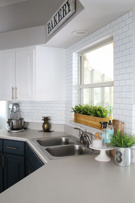 Using Self Adhesive Wall Tile For Our Kitchen Backsplash Mutfak