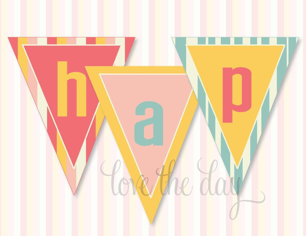pinwheel party printable diy happy birthday banner by lovetheday