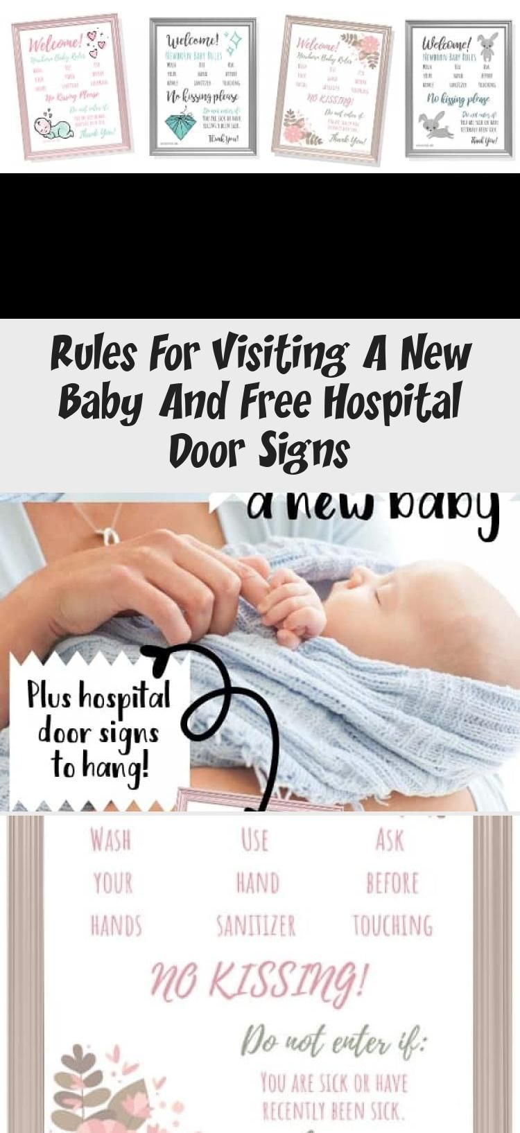 Rules For Visiting A New Baby And Free Hospital Door Signs In 2020