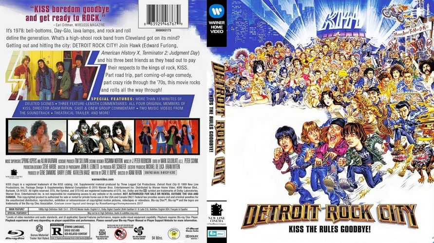 Detroit Rock City Custom Blu Ray Cover