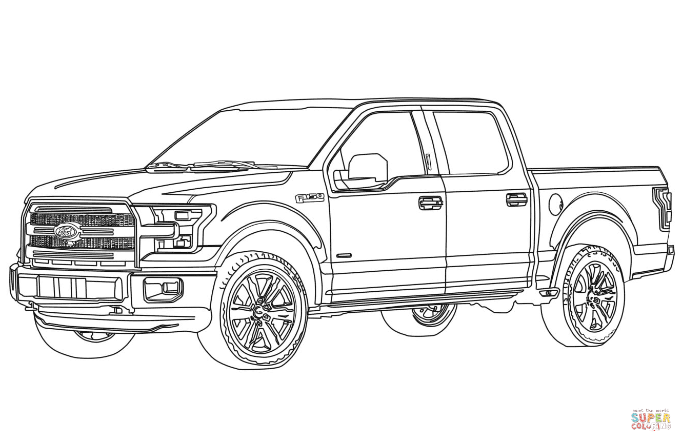 Image result for ford f150 drawing Truck coloring pages