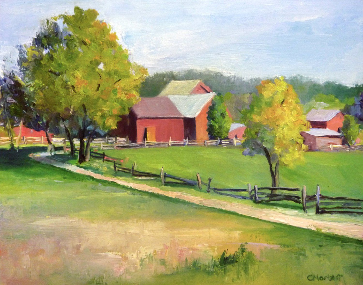 20 off this Plein Air Landscape Oil Painting