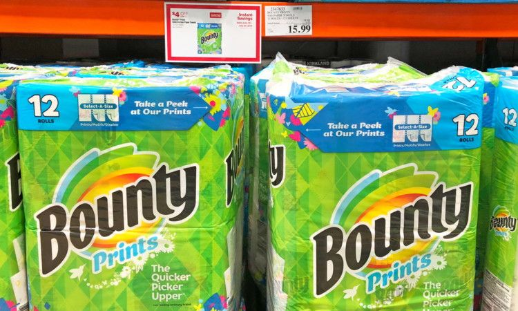 Bounty Select A Size Paper Towels 12 Pack Only 15 99 At Costco