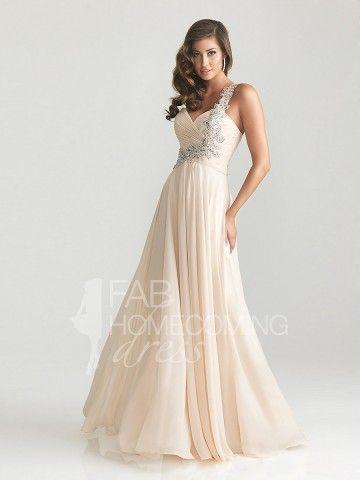2013 Style A-line One Shoulder Beading Sleeveless Floor-length Chiffon Prom Dresses / Evening Dresses (SZ0305723) - FabHomecomingDress.com