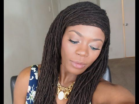 Loc Hairstyle Tutorial Suitable For Thinning And Unkept Edgesjungle