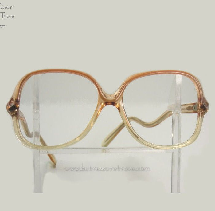 Authentic 1980s Givenchy XII Apricot Ombre Vintage Eyeglasses Frames NOS