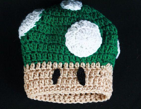 Mario Bros. Toad Crochet Hat