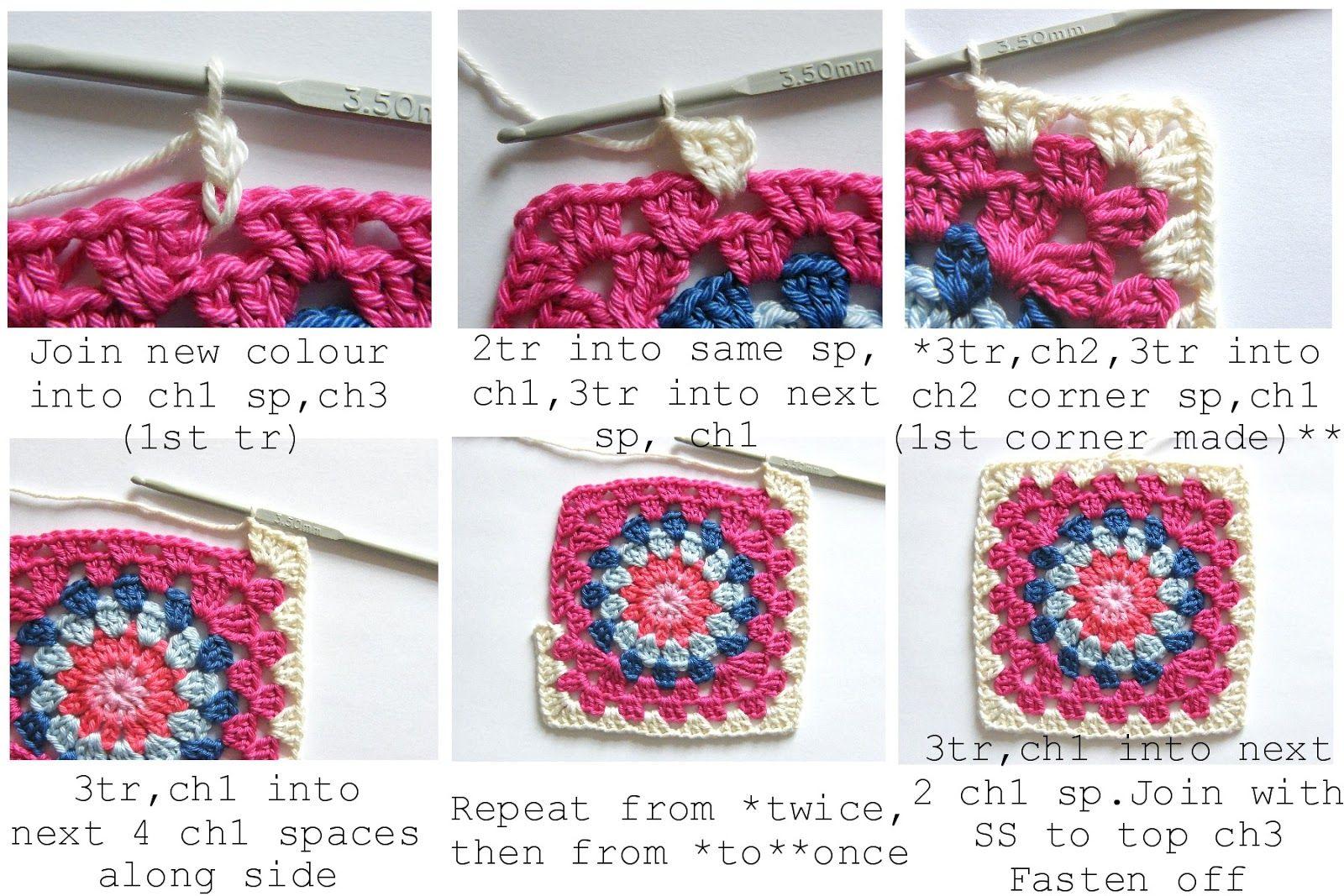 Annie\'s Place: Happy Flower Block Tutorial | Crochet | Pinterest ...