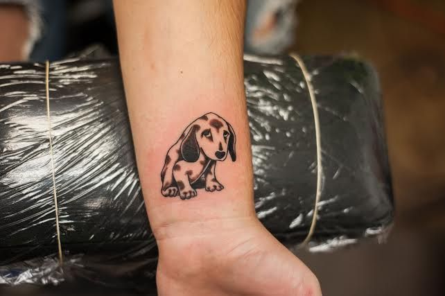 Puppy Tattoo By Wes Hawkins Of New Age Tattoo Of Marquette Mi Done