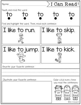 Sight Word Fluency & Reading Intervention | Kind