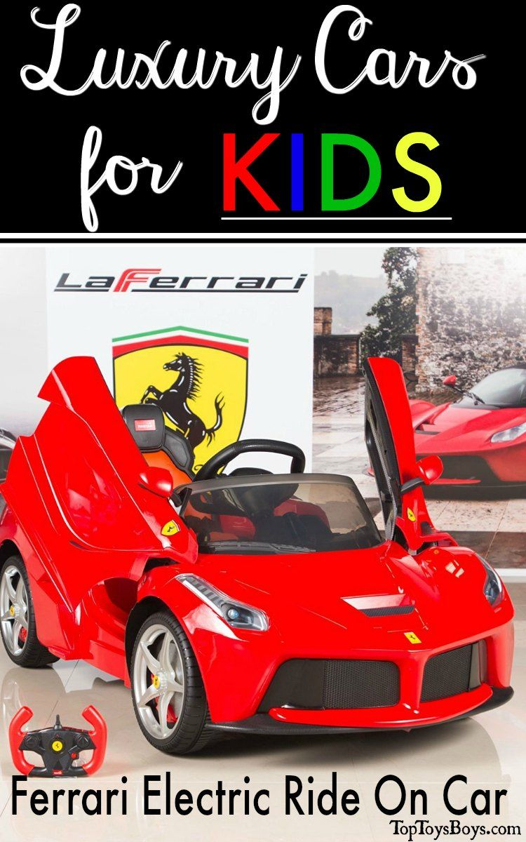 Ferrari Electric Ride On Car Luxury Cars For Kids Ferrari Laferrari Ferrari Kids Ride On