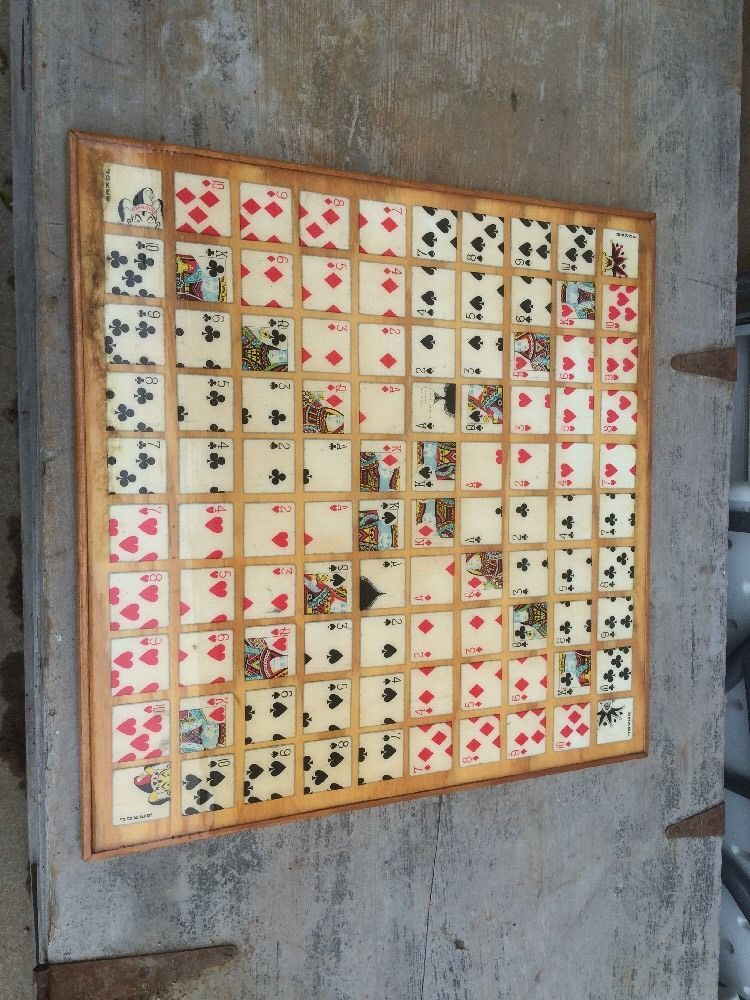 Vintage Hand Made Sequence Game Board HANDMADE Sequence