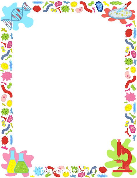 Biology Border Clip Art Page Border And Vector Graphics Clip Art Borders Printable Border Page Borders