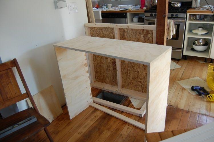 Holzrahmen Fur Den Bartresen Aus Sperrholz Zusammenbauen