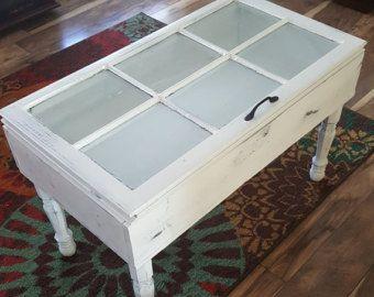 RESERVED For Jenna SALE OFF Vintage Window Coffee Table - Window coffee table for sale
