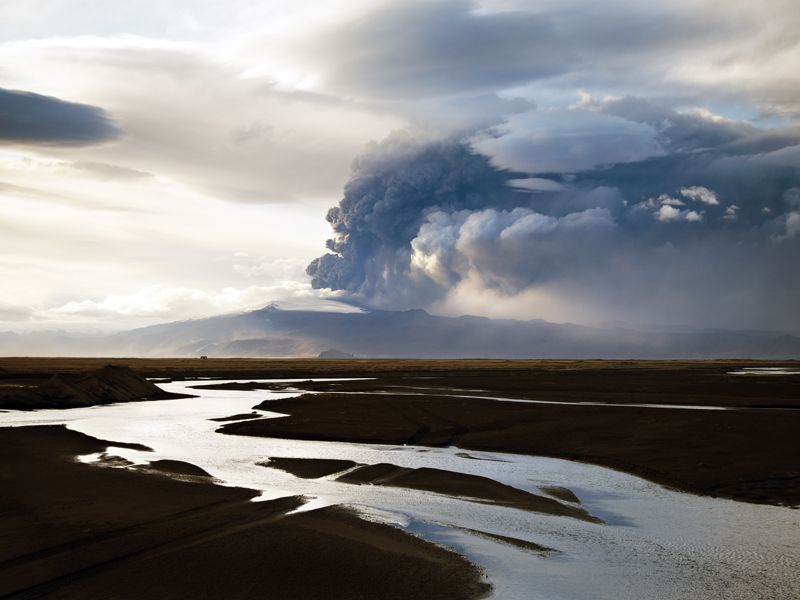 The Power of Nature -Iceland. Taking during the Icelandic volcanic eruption of 2010.