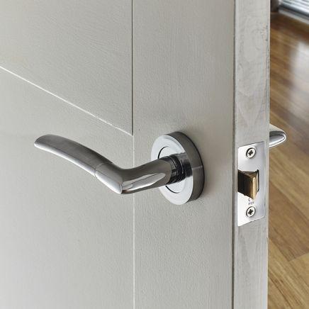 Newington Polished Satin Rose Door Handle Door Handles Doors Home Decor