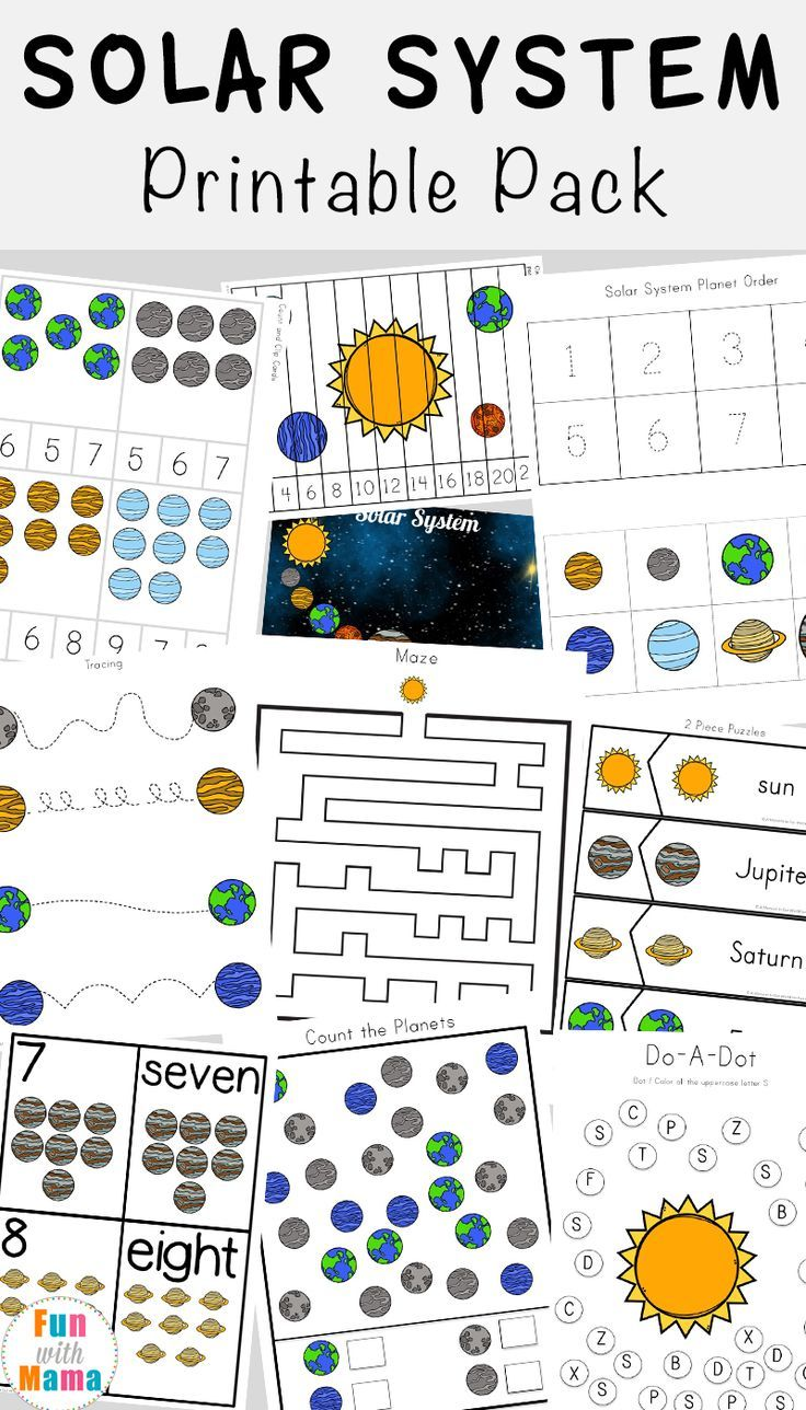 Solar System Printable Worksheets And Activities Pack Space Activities Preschool Solar System Worksheets Space Activities For Kids [ 1288 x 736 Pixel ]