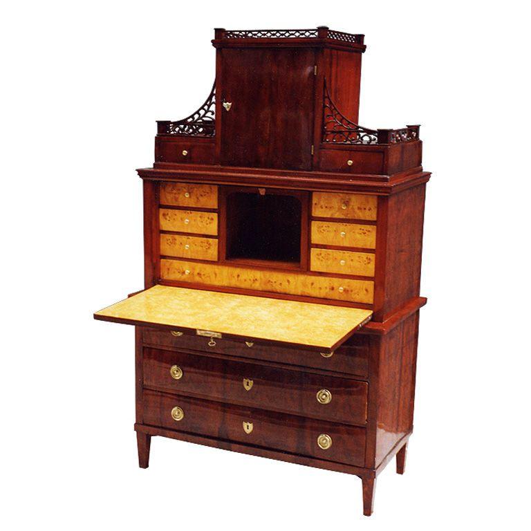 Rare german biedermeier secretaire furniture storage - Secretaire moderne ...