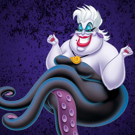 リトルマーメイドに登場する海の魔女 ディズニーヴィランズの