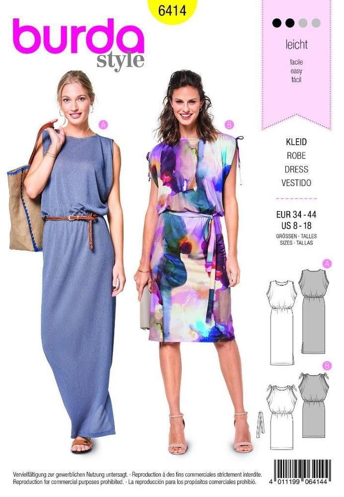 Burda sewing pattern dress 8-18 - 6414 | Pinterest | Burda sewing ...