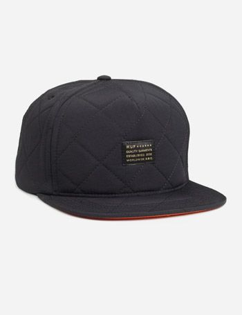 83206d35e3e Basketball Open Gym Near Me. Huf Baron Quilted Snapback Cap - Black