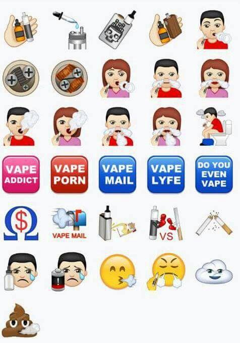 Vaping emojis  | vape stuff in 2019 | Vape, Emoji