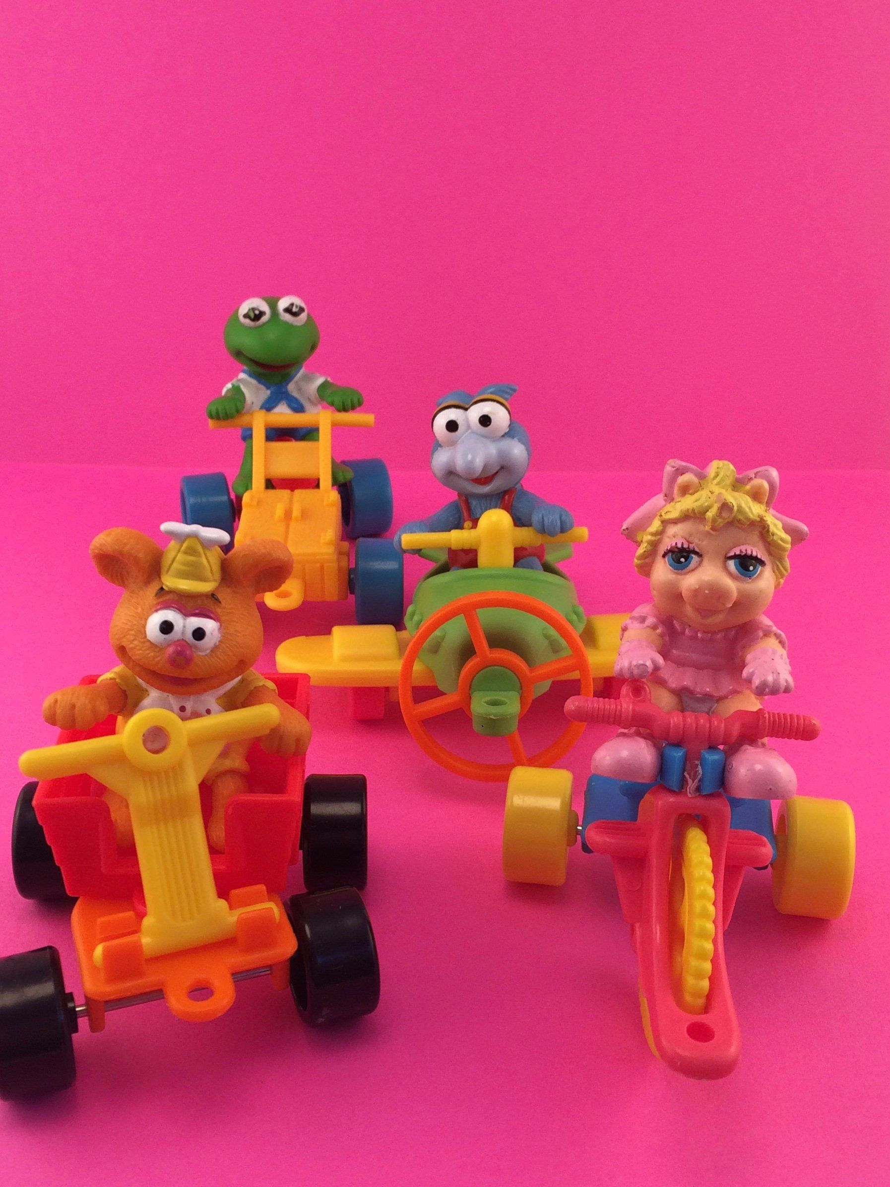 Adorable 1990's Muppet Babies Happy Meal Toys Kermit, Miss