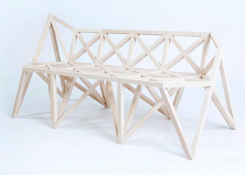 Structural trusses influence bridge furniture by variant for Stuhl design kunstunterricht