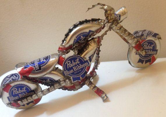 Beer Cap Motorcycle Pabst Blue Ribbon Bottle Cap Bike