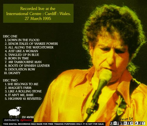 March 27 Bob Dylan Just Like A Woman In Cardiff 1995 With Images