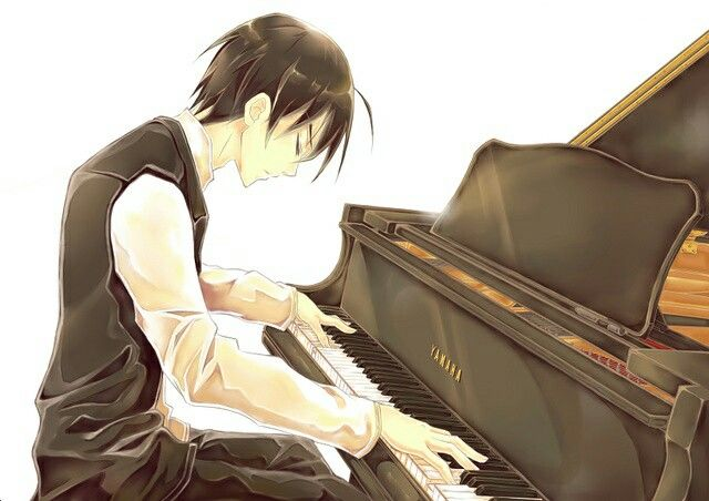 Anime Boy Playing Piano Anime Guys 楽器 イラスト イラスト アニメ