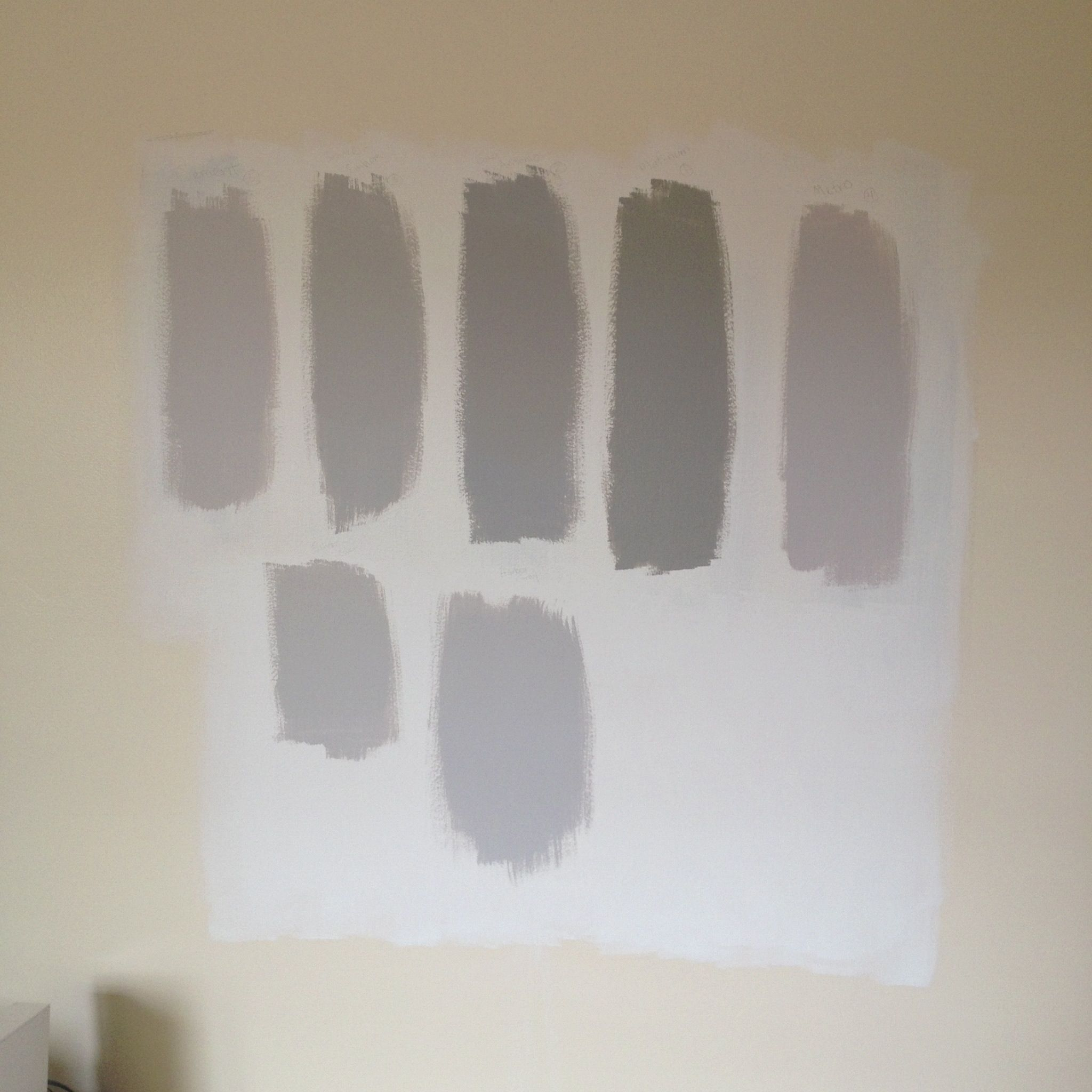 1 cement gray 2 smoke embers gray 3 san antonio gray 4 for Benjamin moore smoke gray