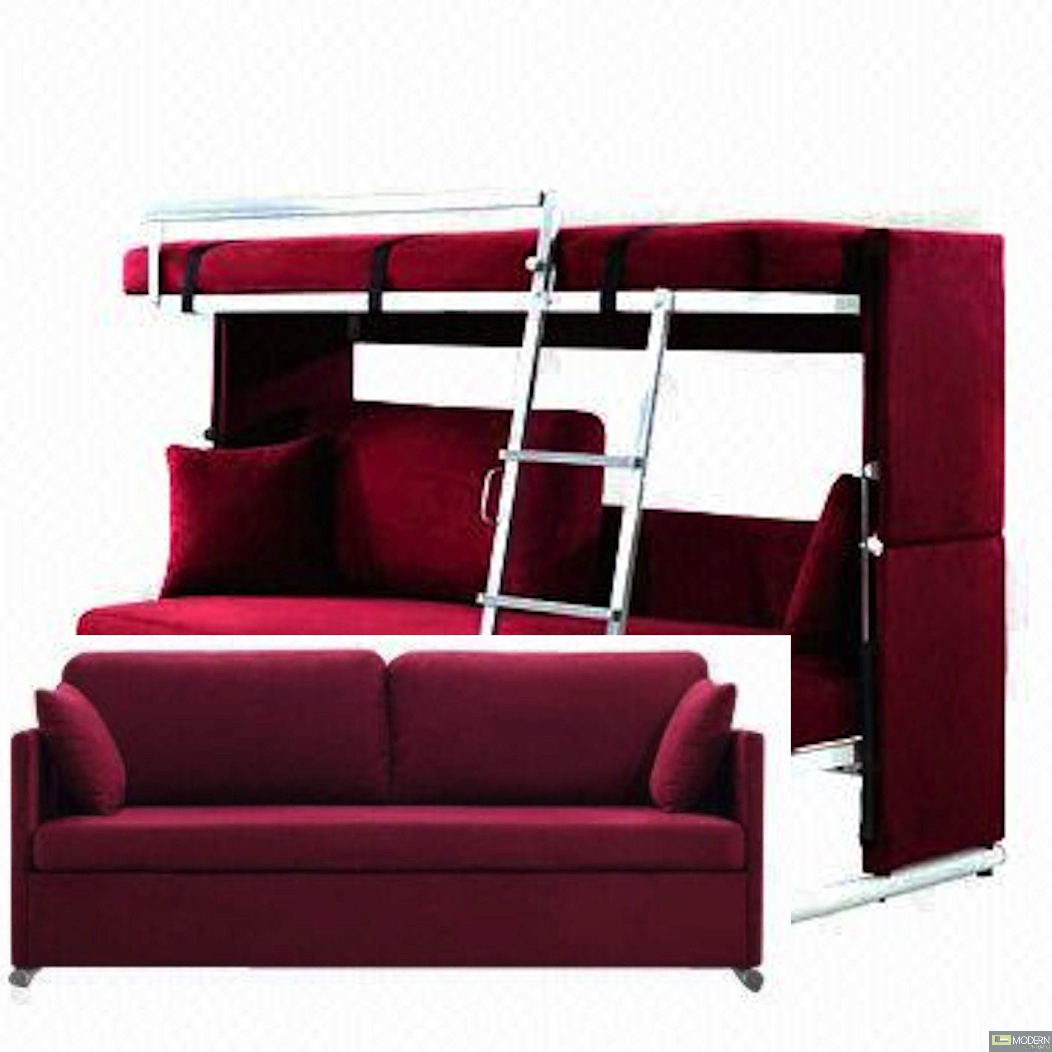 Chair Converts To Bed Alana Modern Convertible Sofa Converts To Bunk Bed For