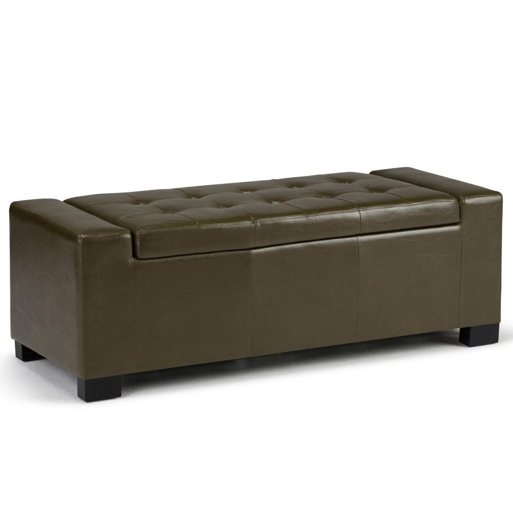 Pleasant Simpli Home Laredo 51 In Contemporary Storage Ottoman In Ncnpc Chair Design For Home Ncnpcorg