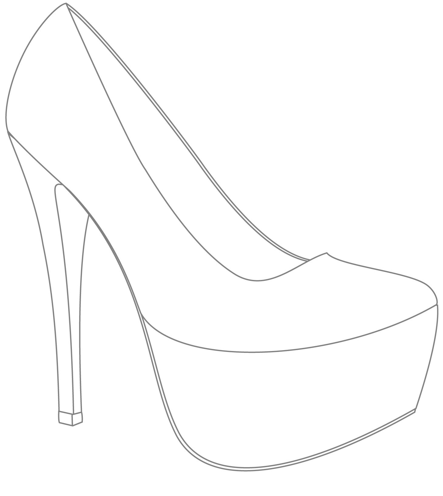 Template for shoes design win your wedding shoes with for High heel template for cards