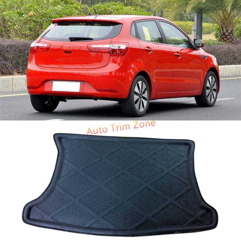 1pcs Black Interior Rear Trunk Boot Mat Carpet For Kia Rio Pride