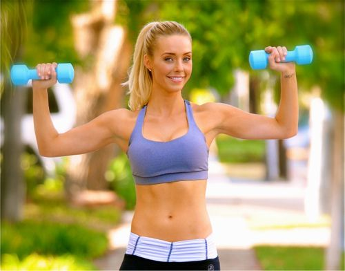 10 minutes a day for sculptured arms!!