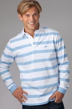 Carolina Blue And White Rugby Shirt